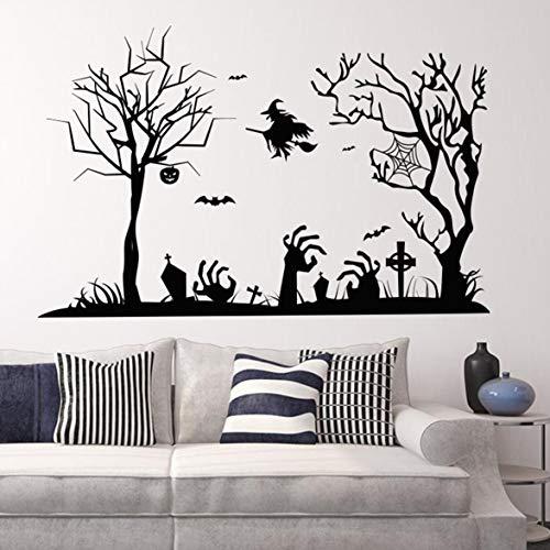 Kongqiabona 57 * 88 CM Halloween Wandaufkleber Universal Wohnzimmer Tapete Wasserdichte Hintergrund Tapeten Schlafzimmer Aufkleber (Bei Universal Halloween)