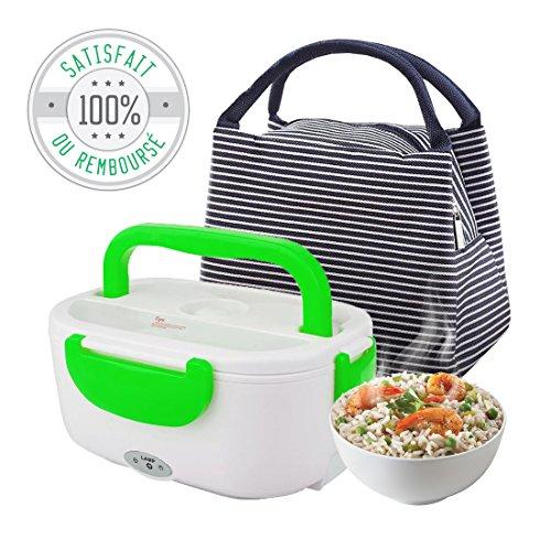 Tillmann's Gamelle Chauffante pour déjeuner/Lunch Box Bento électrique pour chauffer et réchauffer vos plats/Livrée avec un joli sac pour un transport...