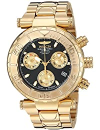 Invicta Men's 'Subaqua' Quartz Stainless Steel Casual Watch, Color:Gold-Toned (Model: 25800)