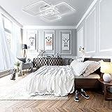 Lonfenner LED Deckenleuchte post-modernen, minimalistischen Wohnzimmer Schlafzimmer Lampe rechteckige atmosphärischen Kunst kreative Persönlichkeit Tischlampe, 4 Dimmen