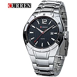 CURREN High Quality Sport Mens Black Dial Wrist Watch with Round Dial 8103G