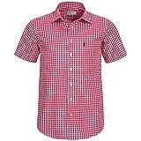 Kurzarm Trachtenhemd in Rot von Almsach, Größe:S;Farbe:Rot