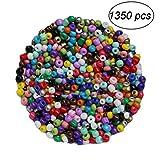 BESTONZON 1350 unids 3mm Mini cuentas de cristal para los niños para la fabricación de joyería collar pulsera/fabricación de joyas (colores mezclados)