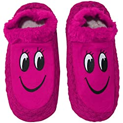 Neskamoda Kids' Pink & Black Winter Booties - 24Cm