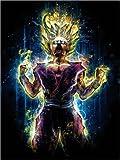 Posterlounge Leinwandbild 30 x 40 cm: Angry to The Second Level Gohan von Barrett Biggers - fertiges Wandbild, Bild auf Keilrahmen, Fertigbild auf Echter Leinwand, Leinwanddruck
