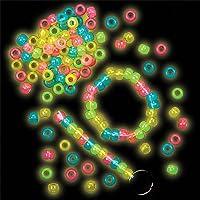 Perline Fosforescenti per Bambini da Infilare per Creare Braccialetti o Altri Gioielli (confezione da 200) - Bambini Perline