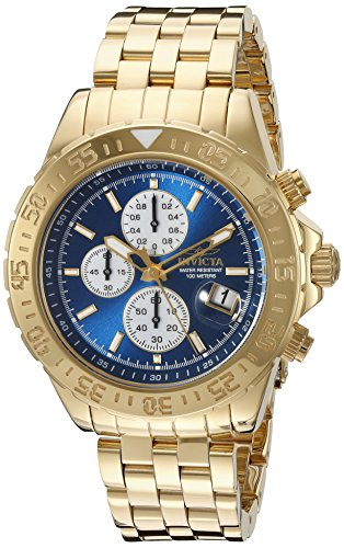 Invicta Men's 18855 Aviator Analog Display Japanese Quartz Gold Watch image