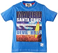 Freaky Boy's Malibu Santa Cruz T-Shirt, Blue, 3 Years