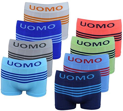 PiriModa 8 Pack Jungen Boxershorts Junge Boxer Unterhose Unterwäsche Mikrofaser Slips Schlüpfer (104-116) (4-6Jahre) Modell 11-8 STÜCK