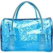 Panegy Moda Bolsa Impermeable con Asas Transparente Bolso de Mano de Playa para Natación Deportes Fitness - Muchos Colores a Elegir