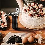 Gocheer Airbrush Kompressor Set,0,3 mm 7CC Gesichtsschönheit Spritzpistole Sauerstoffmessgerät Bodypainting Farben kit für ModellbauSchönheit Art Painting Tattoo Craft Cake Torten Make Up - 4