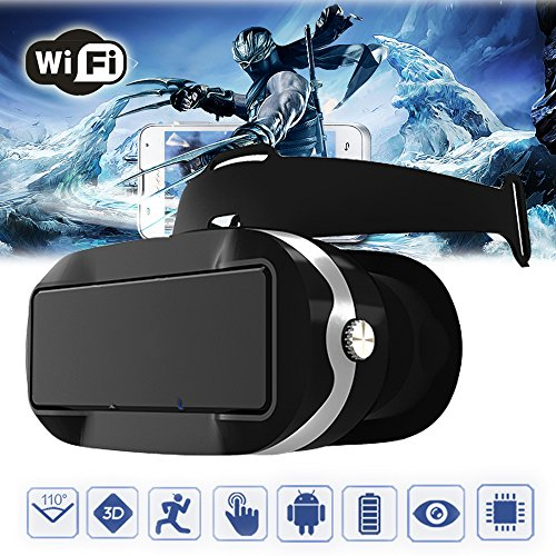 Elikliv VR Headset Virtual Reality 3D Glasses Touch Screen WiFi