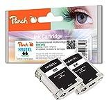 Peach Doppelpack Tintenpatronen schwarz kompatibel zu HP No. 940XL, C4906AE