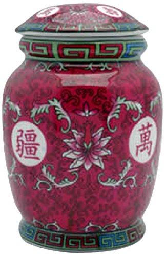 StealStreet 1001515,2cm verziert Charakter Chinesisches Porzellan Teedose, - Porzellan Chinesische Figuren