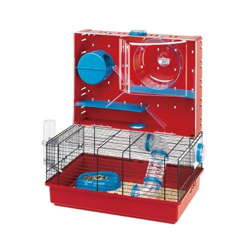 Ferplast - Olimpia / 57922599 - Cage pour hamsters - Complètement équipée - 46 x 29.5 x 54 cm