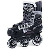 Bauer Mission Youth RH Inhalator NLS-06 Hockey Skate, schwarz, E 10.0