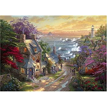 Thomas Kinkade The Village Lighthouse Painter Of Light 1000 Piece Jigsaw