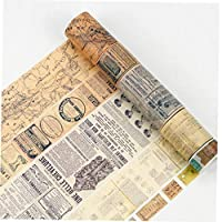 Casecover 20mm*8m Vintage Map Washi Tape Diy Decoration for Scrapbooking Masking Tape Adhesive Tape