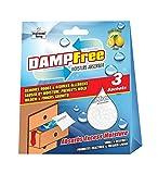 DAMPFREE Moisture Absorber Sachets (36g) - Pack of 3