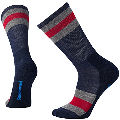 Smartwool Homme Striped Hike Light Crew Socks