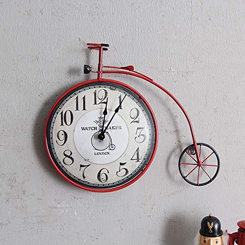 LUCKY STAR Retro Arte Del Ferro Orologio Da Parete Per Biciclette Casa Creativa Soggiorno Camera Da Letto Parete Orologio Decorazione Murale Decorativa A Parete,B