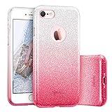 ESR Hülle für iPhone 7, Bumper Case Hybrid Schutzhülle Psychedelisch Rosa