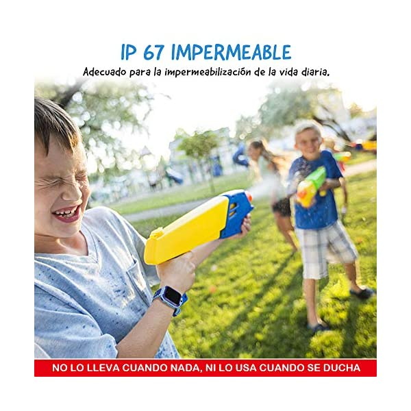 NAIXUES Smartwatch Niños, Reloj Inteligente Niño IP67, LBS, Hacer Llamada, Chat de Voz, SOS, Modo de Clase, Cámara… 5