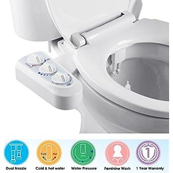 Water Bidet Insieme.Ibama Toilet Seat Bidet With Dual Nozzle Self Cleaning