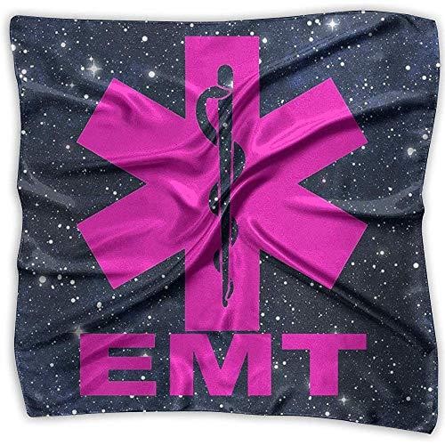 EMT Square Scarf - Leichter floraler Kopftuchkopfschmuck für Damen aus 100% Polyester -