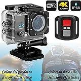 PRO CAM 4K SPORT ACTION WIFI DV CAMERA ULTRA HD 16MP VIDEOCAMERA SUBACQUEA 30 MT MINI VIDEOCAMERA