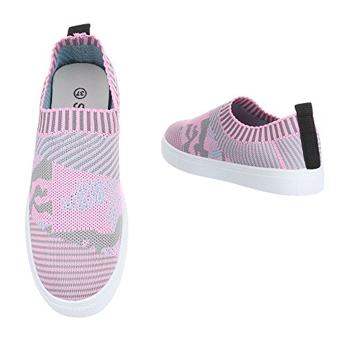 Ital-Design - Low-top Donna Rosa Multi
