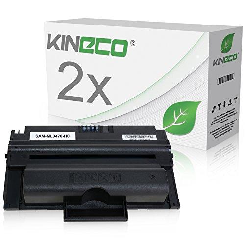 Preisvergleich Produktbild 2 Toner kompatibel zu Samsung MLD-3470B ML-3470 3471 3475 D ND 3400 Series - Schwarz je 10.000 Seiten