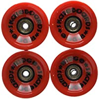 Ridge Skateboard Ruedas - 70mm 78A PU skateboard ruedas - incluye rodamientos ABEC - juego completo de 4