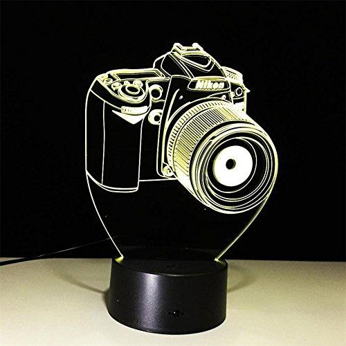 DREAM LAMP Thanksgiving Weihnachten 3D optische Illusion Lampe 7 Farben berühren Nacht Licht Kunst Skulptur Licht Zimmer Dekor Leuchten Spielzeug Skateboard , D (Skateboard-zimmer Dekor)