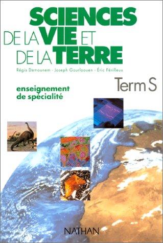 SCIENCES DE LA VIE ET DE LA TERRE TERMINALE S. Enseignement de spécialité, Programme 1994