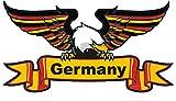 Etaia 8x14,5 cm Auto Aufkleber Adler in Landesfarben Schrift Zug Germany Sticker Motorrad
