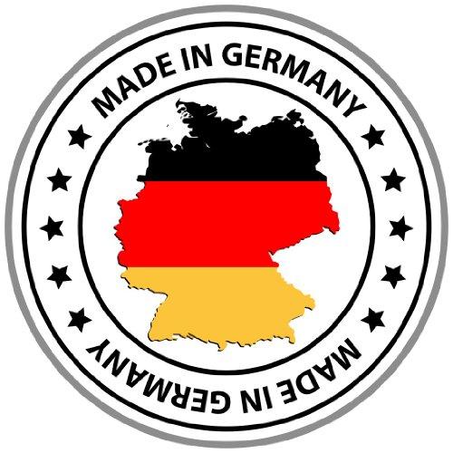 Aufkleber Made in Germany mit Deutschland Sticker Autoaufkleber