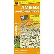 Plan de ville d'Amiens et de son agglomération - Echelle : 1/13 000 - Localisation des stations Vélam