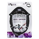Sherpa Hundehalsband, mit integrierter Leine, Größe M, Schwarz