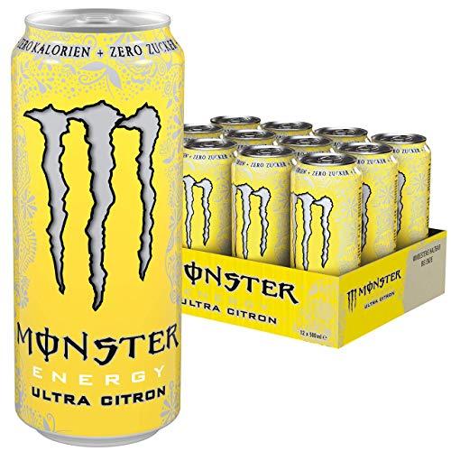 Monster Ultra Citron Energy Drink, 12er Pack, EINWEG (12 x 500 ml)