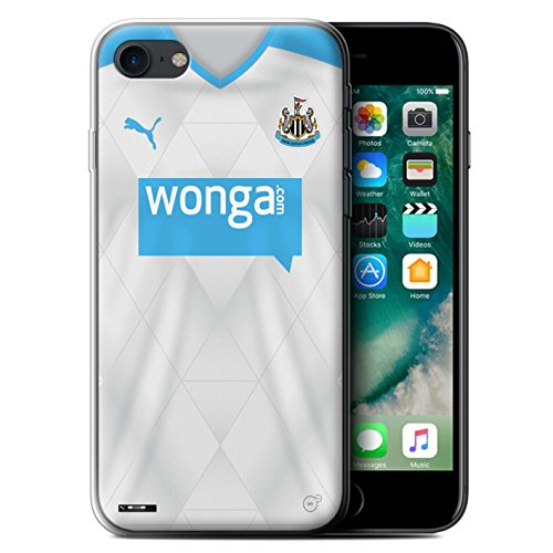Offiziell Newcastle United FC Hülle / Gel TPU Case für Apple iPhone 7 / Mitrovic Muster / NUFC Trikot Away 15/16 Kollektion Fußballer