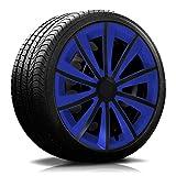 15 Zoll RKK11 Multi-Color Line Blau/Schwarz Radkappen / Radzierblenden 4 Stück