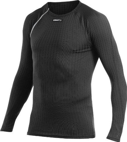 Craft - Maglietta tecnica da uomo a maniche lunghe e scollo rotondo Active Extreme, Nero (nero), M