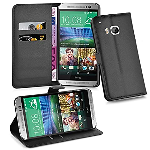 Cadorabo - Book Style Hülle für HTC ONE (3.Generation M9) - Case Cover Schutzhülle Etui Tasche mit Standfunktion und Kartenfach in