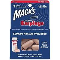 Macks Safesound Ultra - Soft foam earplugs - 10 Pairs - Free Travel Case preisvergleich bei billige-tabletten.eu