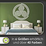 KIWISTAR Triskele Triskell Triskellion Wandtattoo in 6 Größen - Wandaufkleber Wall Sticker