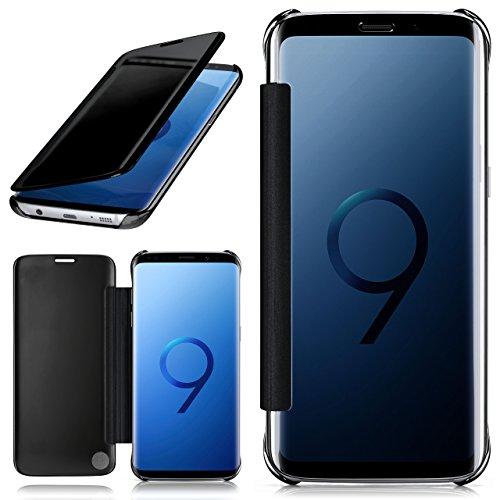 moex Samsung Galaxy S9 Plus | Hülle Transparent TPU Void Cover Dünne Schutzhülle Anthrazit Handyhülle für Samsung Galaxy S9 Plus Case Ultra-Slim Handy-Tasche mit Sicht-Fenster