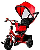 #8: Baybee Phoenix 4 in 1 Trolly Cycle Tricycle with Canopy and Parent Control
