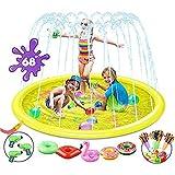 مسبح سبلاش عالي الجودة بمرشات للاطفال مع العاب مائية اضافية ومسدسات مائية وبالونات لاقصى متعة مائية - مسبح خارجي كبير للاطفال