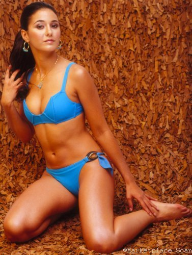 Emmanuelle Chriqui Mini-Poster, 28° x ° 43° cm) 11inx17in Blauer bikini